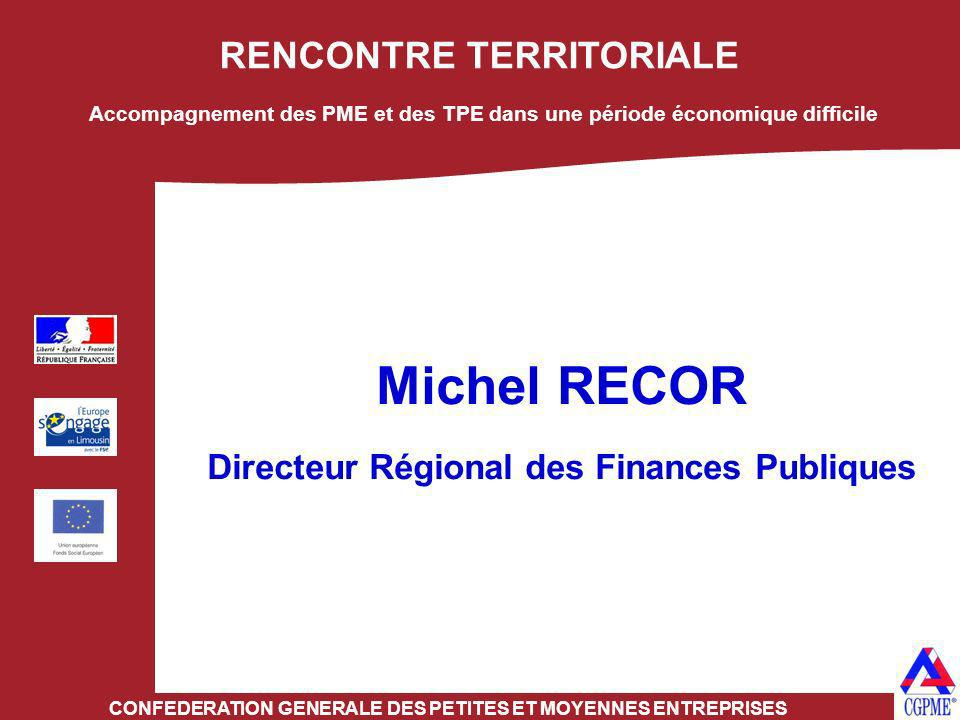 Michel RECOR RENCONTRE TERRITORIALE