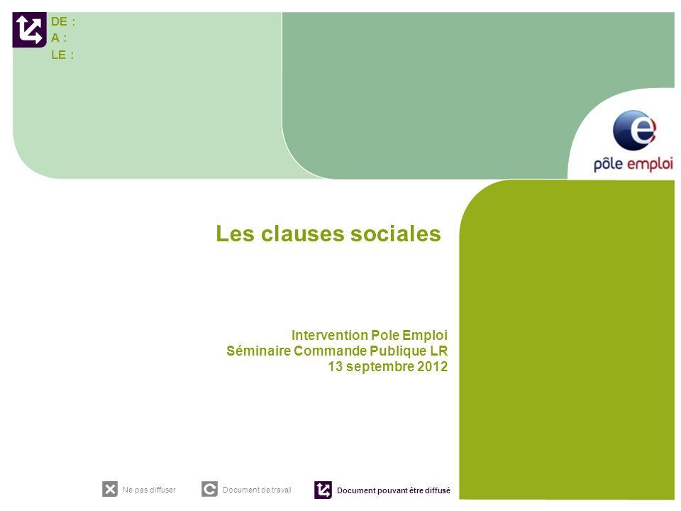 Les clauses sociales Intervention Pole Emploi