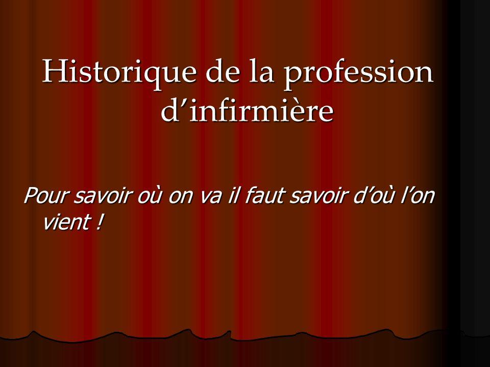 Historique de la profession d'infirmière