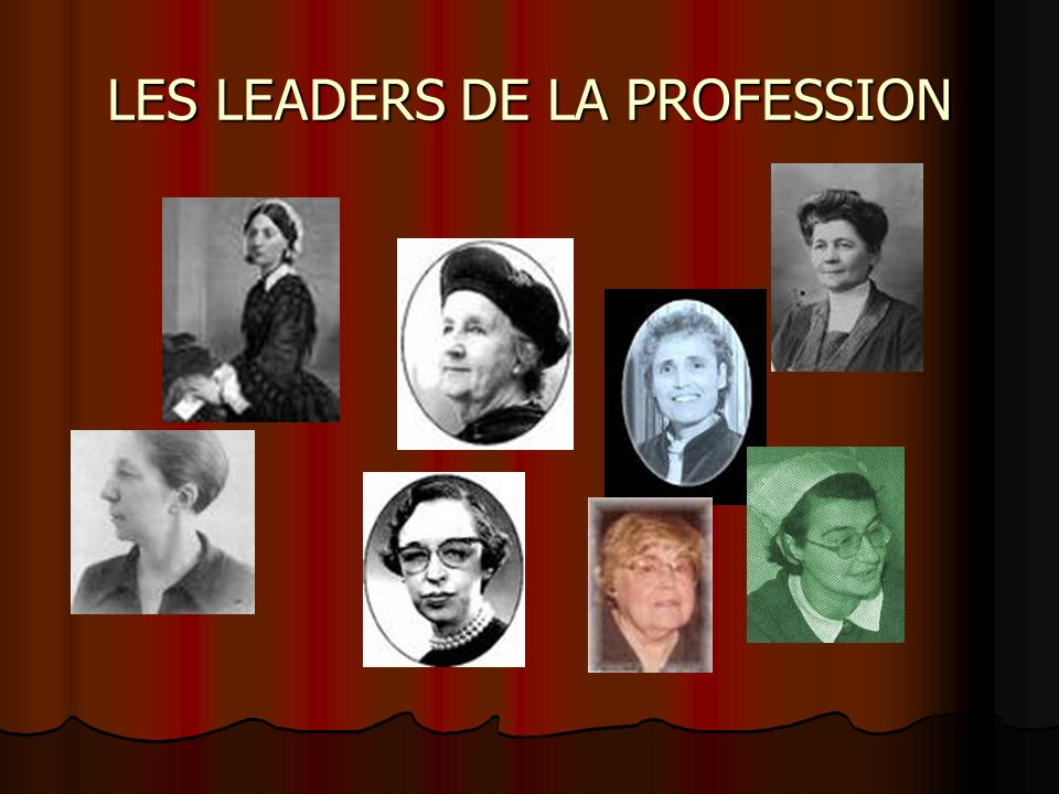 LES LEADERS DE LA PROFESSION
