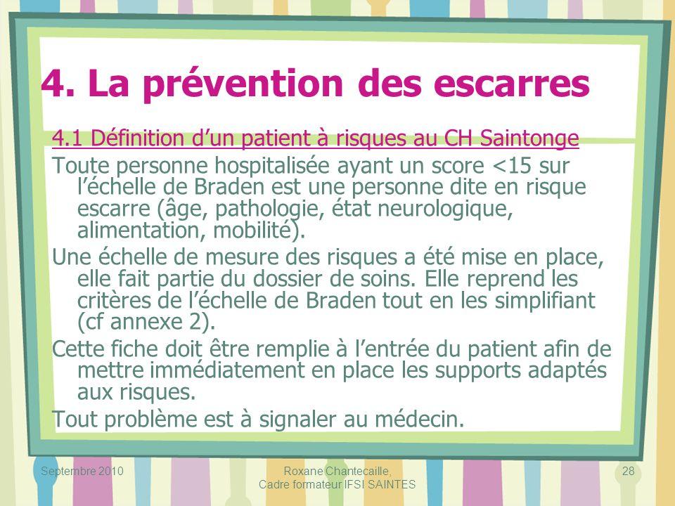 4. La prévention des escarres