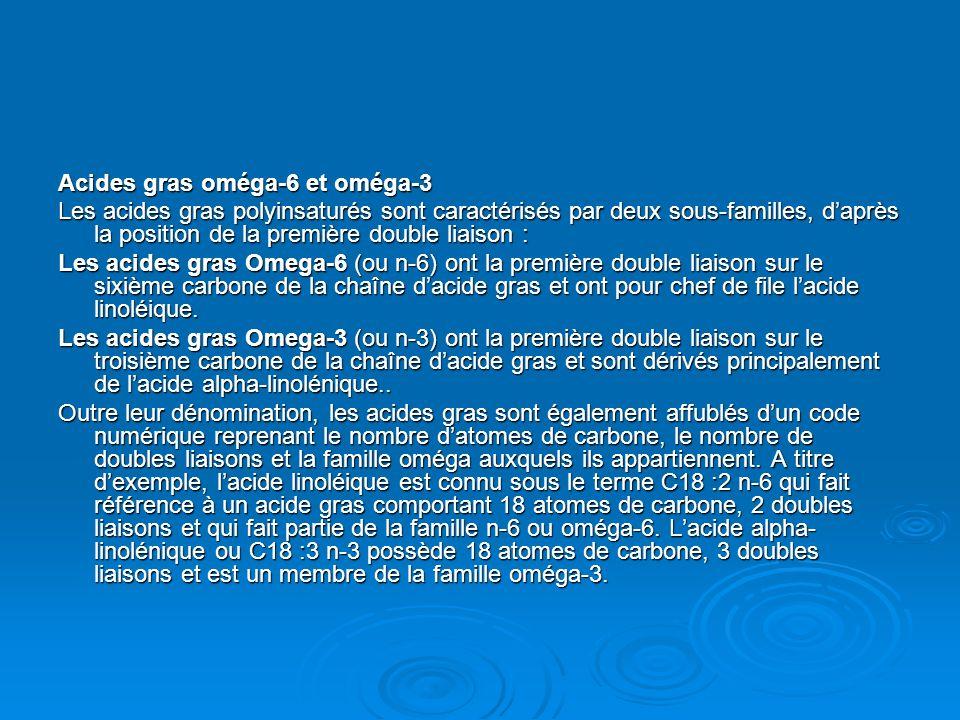 Acides gras oméga-6 et oméga-3