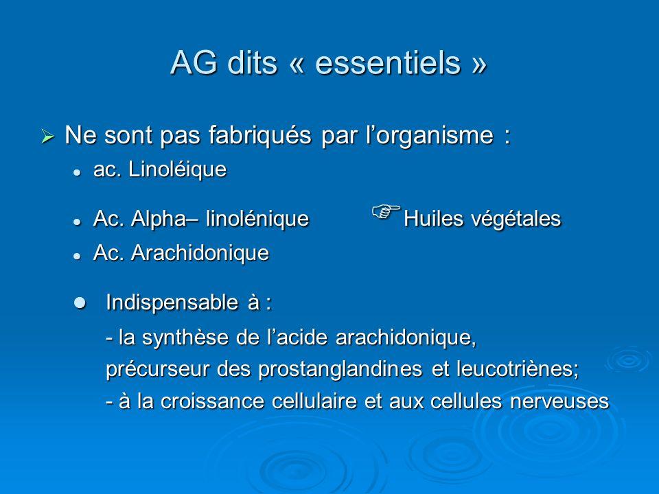 Indispensable à : AG dits « essentiels »