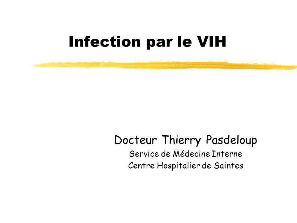 Infection par le VIH Docteur Thierry Pasdeloup