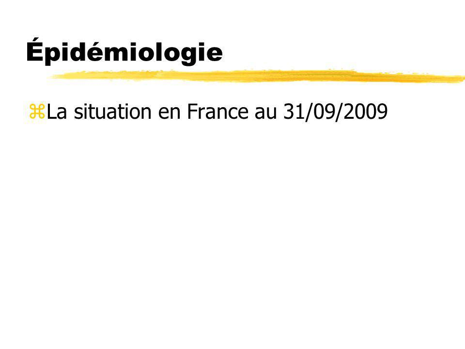 Épidémiologie La situation en France au 31/09/2009