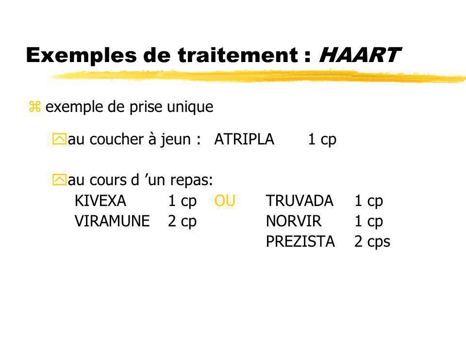 Exemples de traitement : HAART