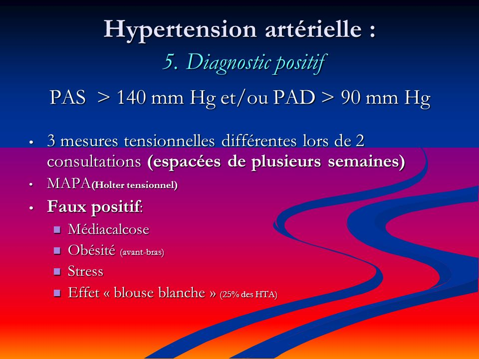 Hypertension artérielle : 5. Diagnostic positif