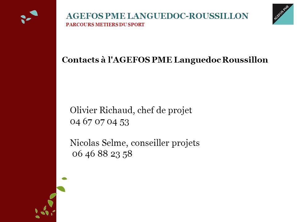 Contacts à l AGEFOS PME Languedoc Roussillon