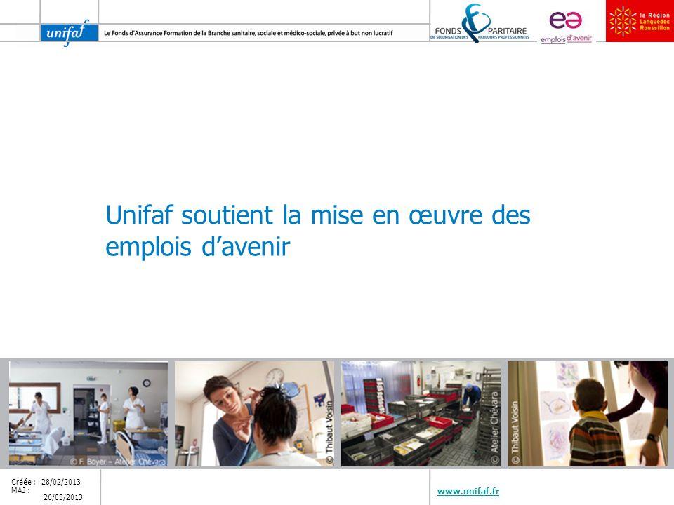 Unifaf soutient la mise en œuvre des emplois d'avenir