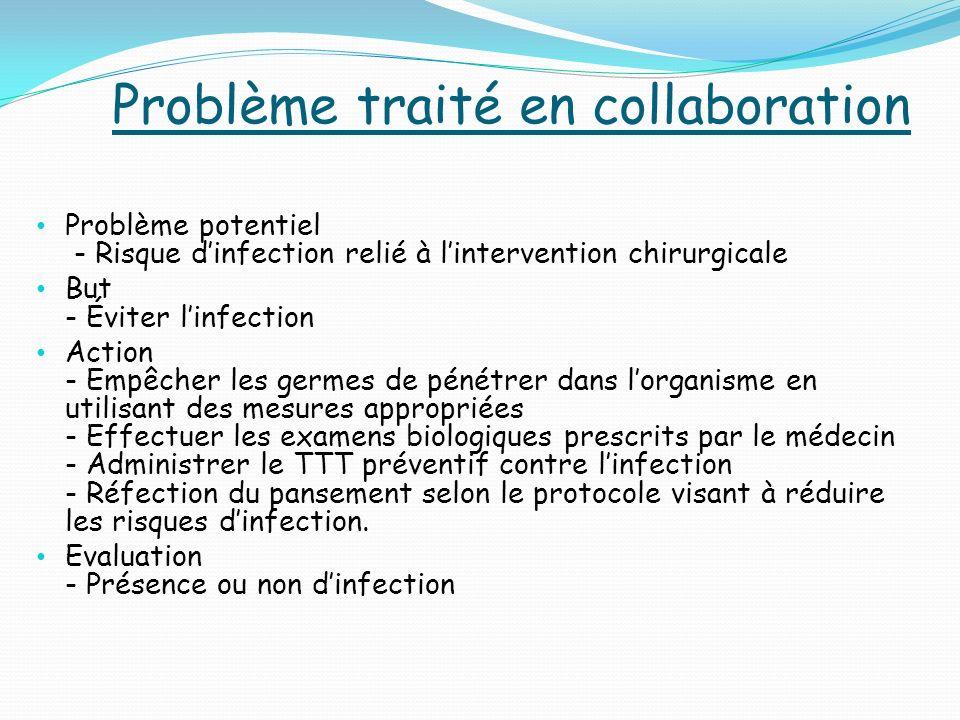 Problème traité en collaboration