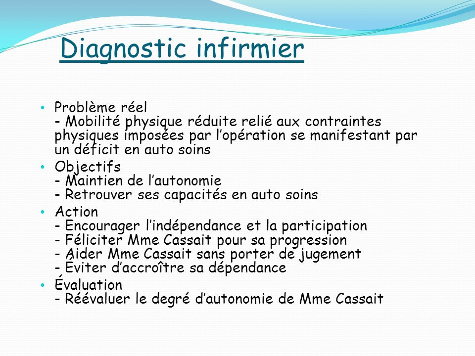 Diagnostic infirmier