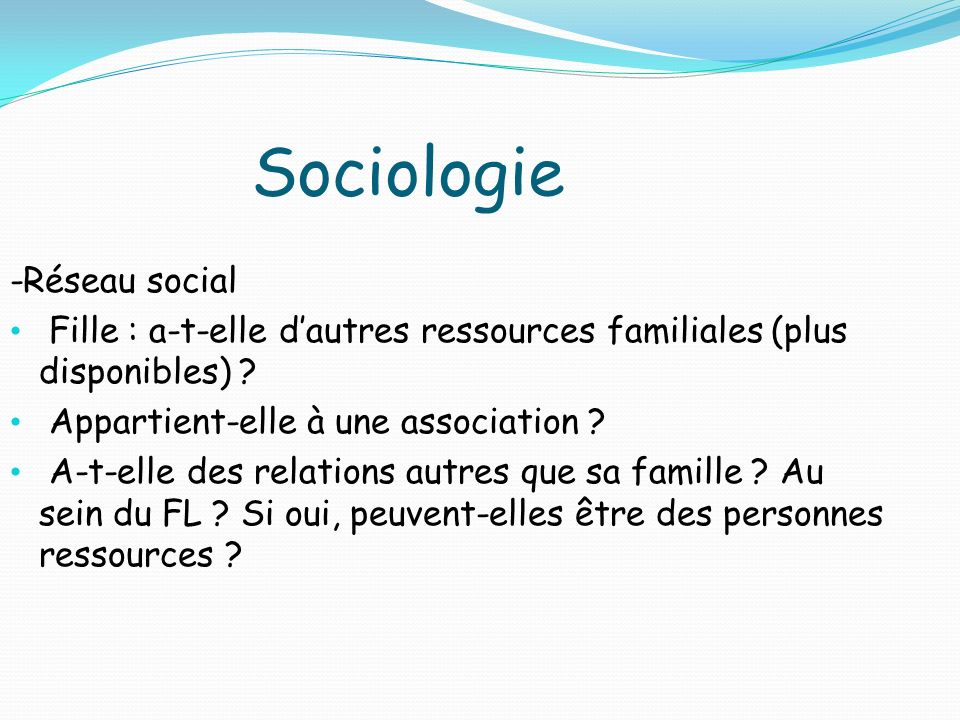 Sociologie -Réseau social