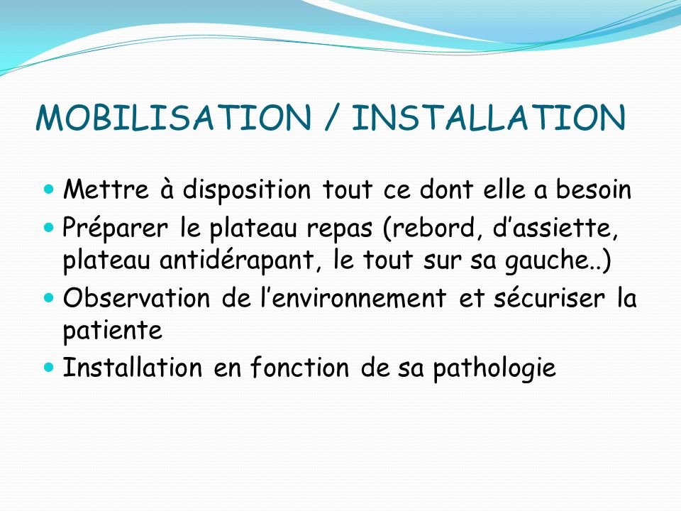 MOBILISATION / INSTALLATION