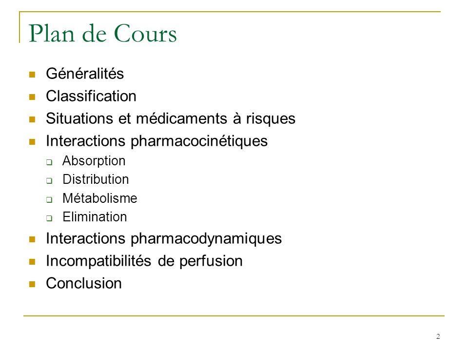 Plan de Cours Généralités Classification