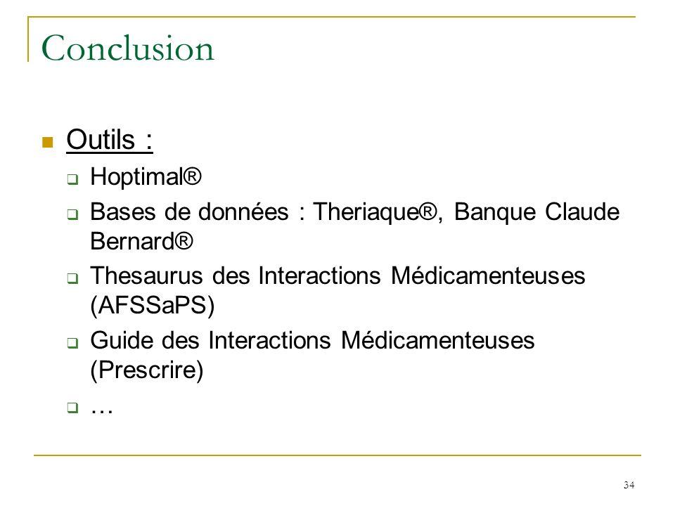 Conclusion Outils : Hoptimal®