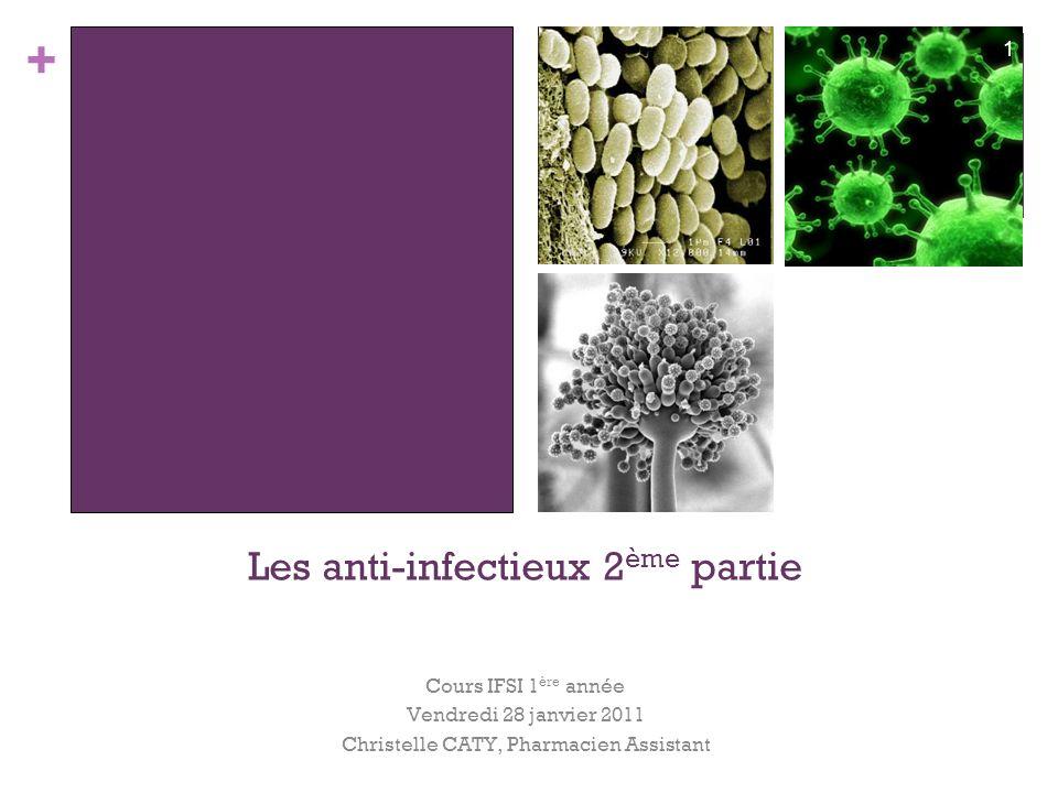 Les anti-infectieux 2ème partie