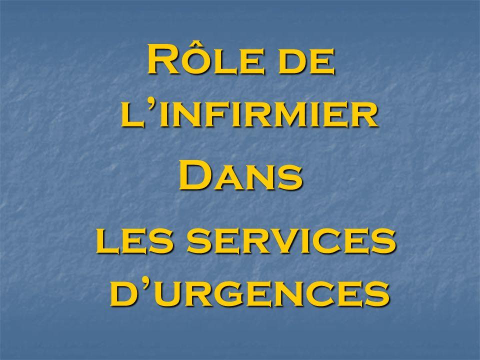 les services d'urgences