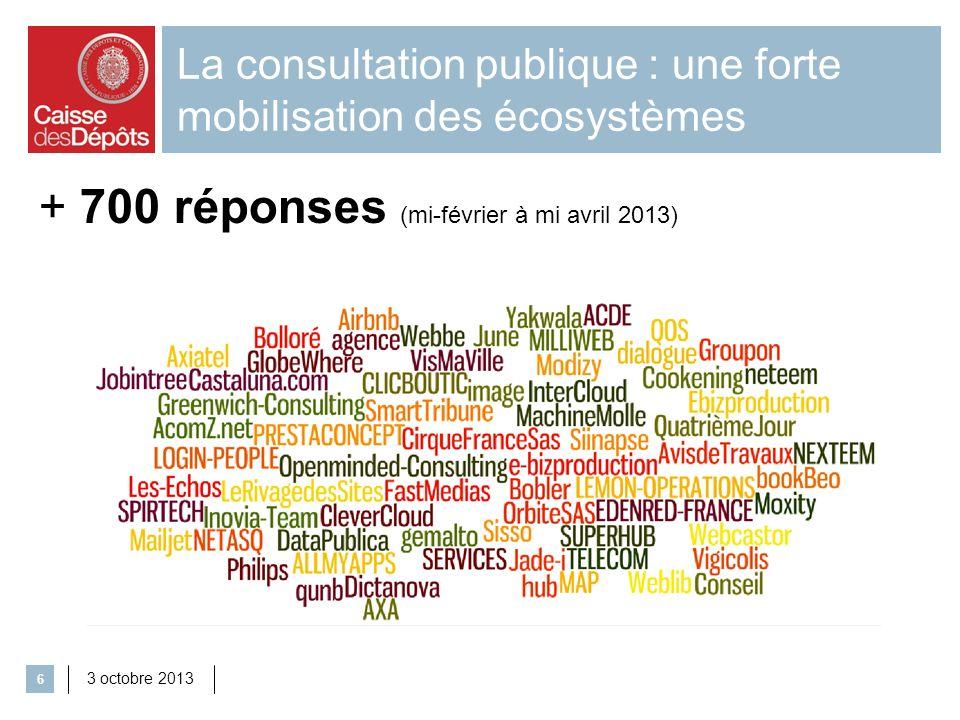 La consultation publique : une forte mobilisation des écosystèmes