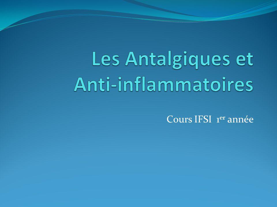 Les Antalgiques et Anti-inflammatoires