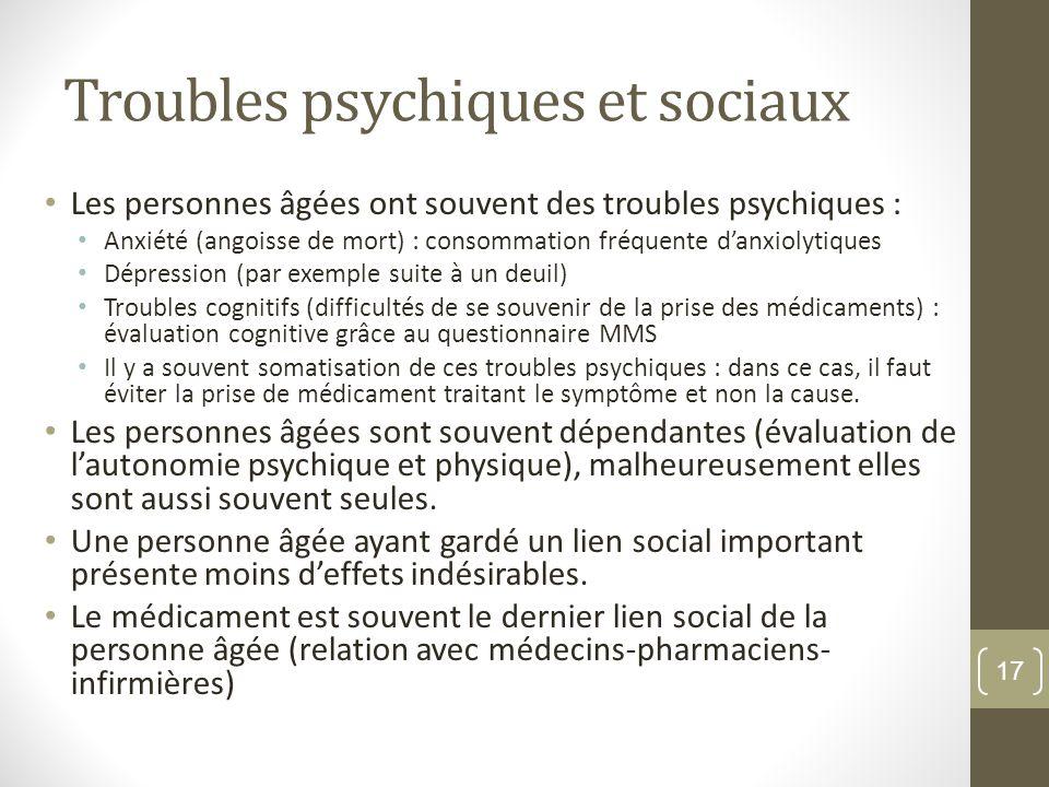 Troubles psychiques et sociaux