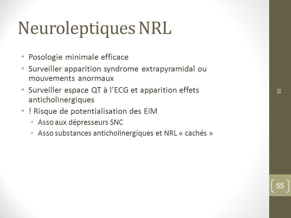 Neuroleptiques NRL Posologie minimale efficace