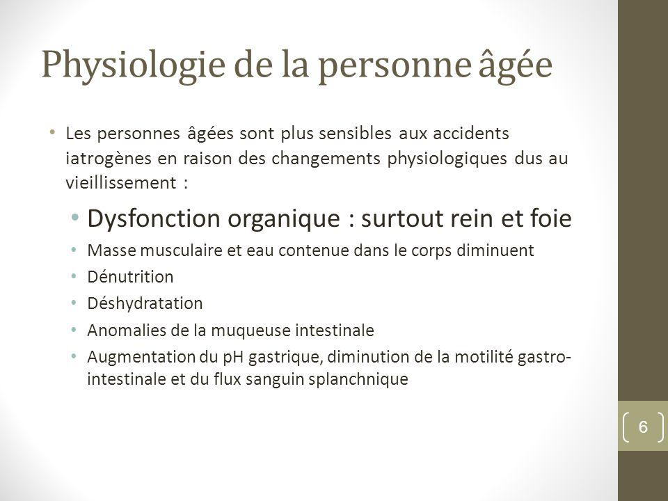 Physiologie de la personne âgée
