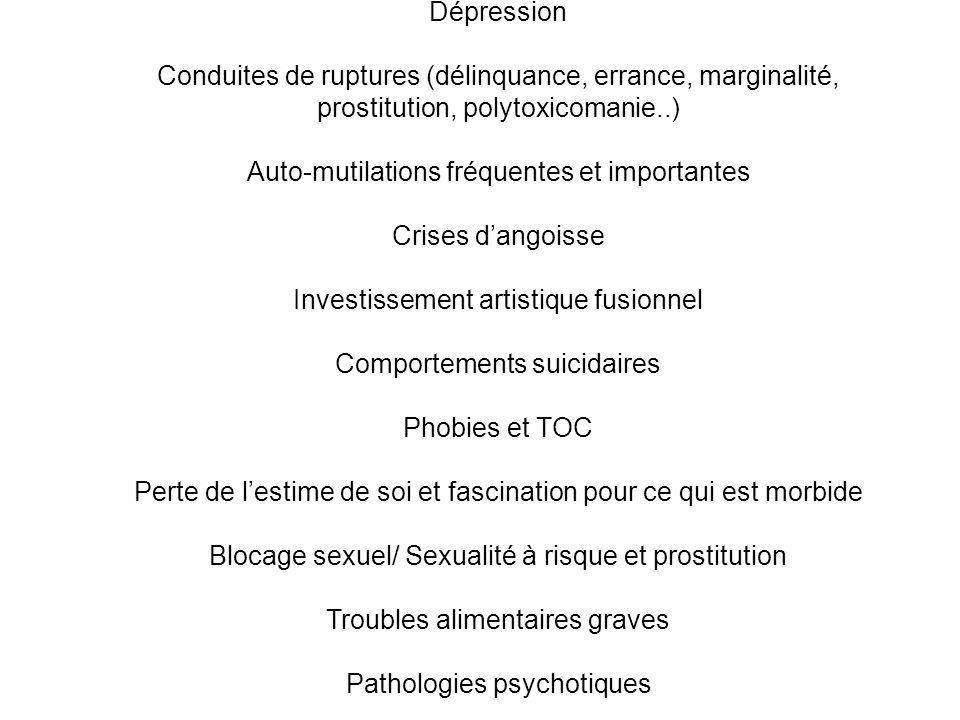 Conduites de ruptures (délinquance, errance, marginalité,