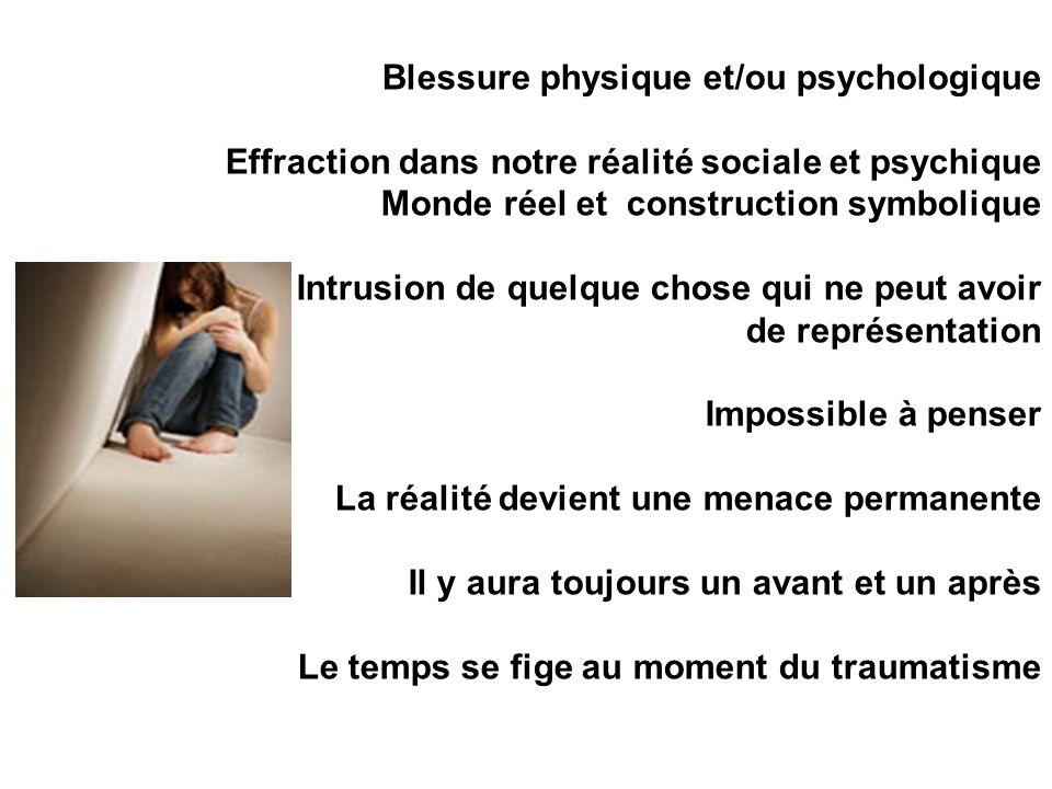Blessure physique et/ou psychologique