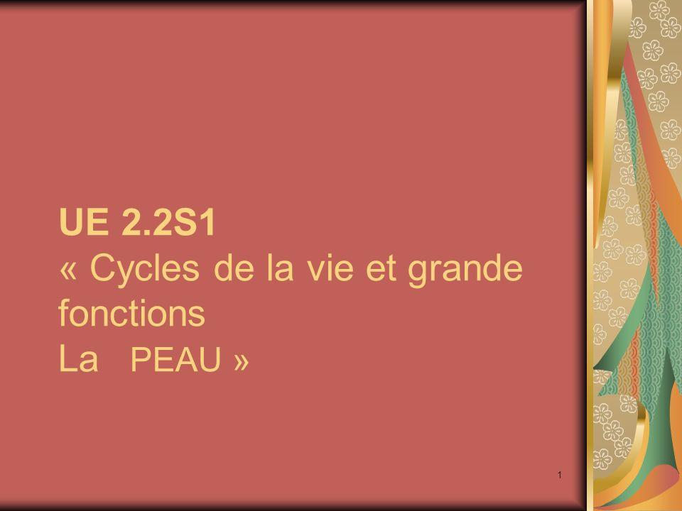 UE 2.2S1 « Cycles de la vie et grande fonctions La PEAU »