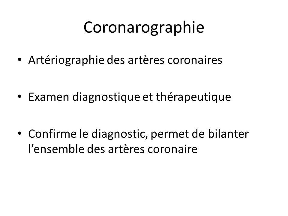 Coronarographie Artériographie des artères coronaires