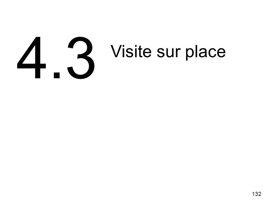 4.3 Visite sur place 132 132
