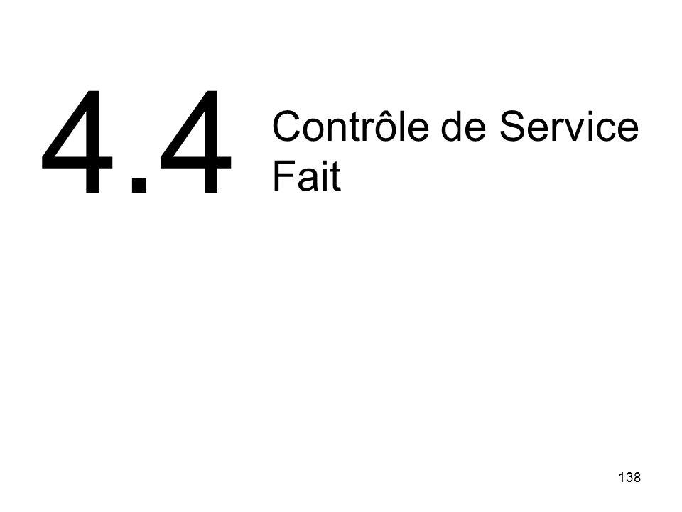 4.4 Contrôle de Service Fait 138 138