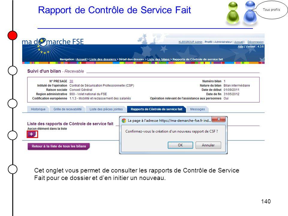 Rapport de Contrôle de Service Fait