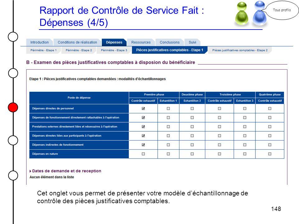 Rapport de Contrôle de Service Fait : Dépenses (4/5)