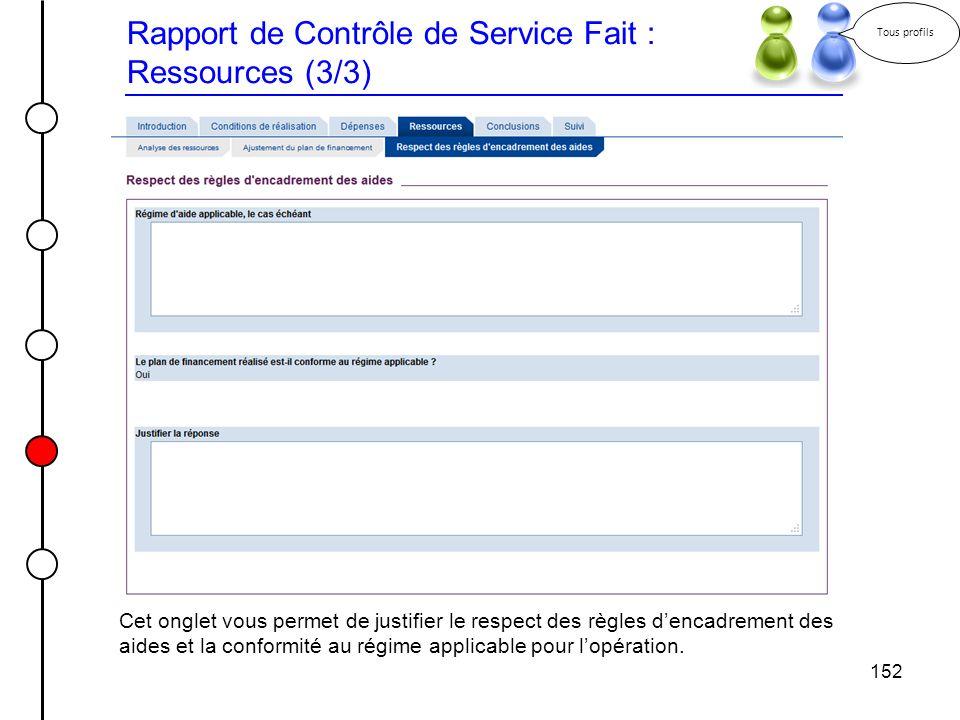 Rapport de Contrôle de Service Fait : Ressources (3/3)