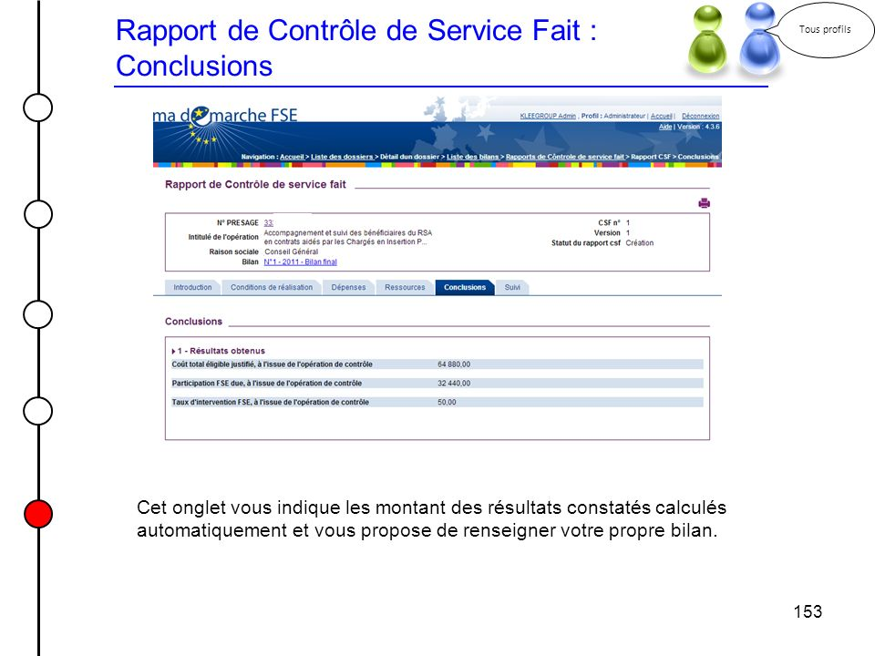 Rapport de Contrôle de Service Fait : Conclusions