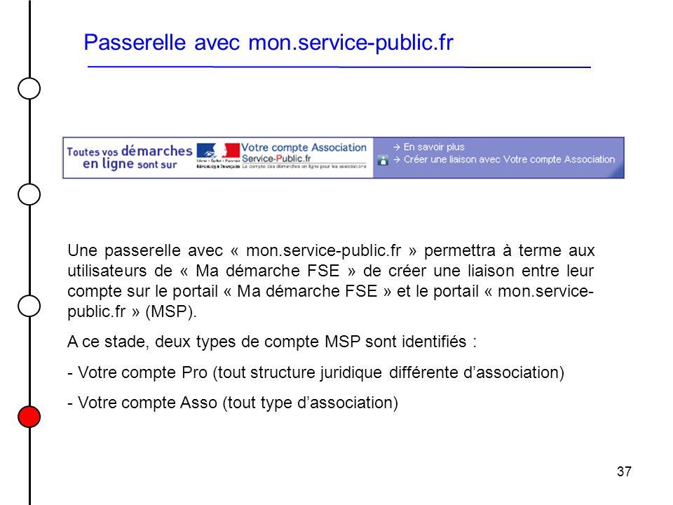 Passerelle avec mon.service-public.fr