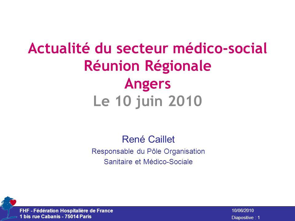 Actualité du secteur médico-social Réunion Régionale Angers Le 10 juin 2010