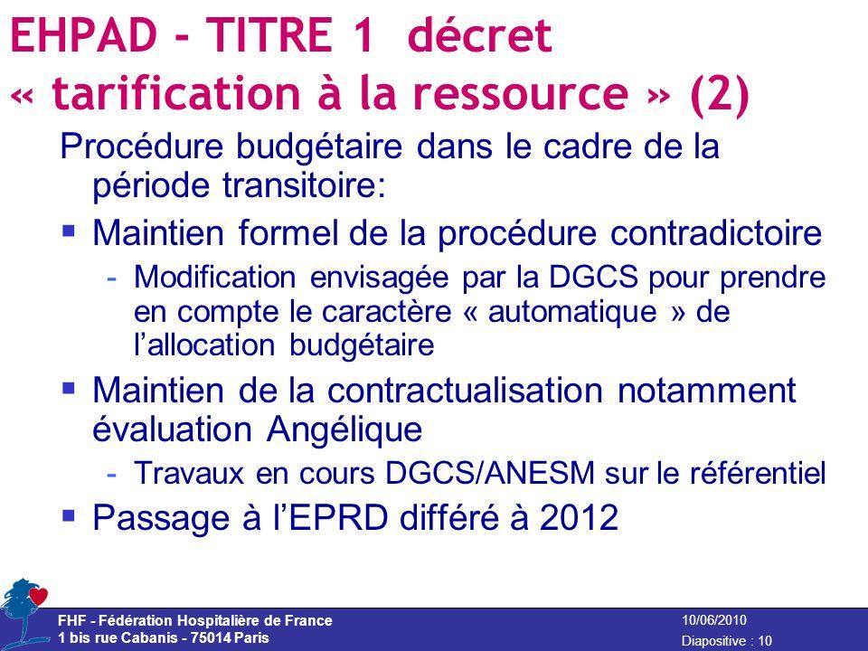 EHPAD - TITRE 1 décret « tarification à la ressource » (2)
