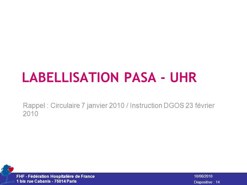 LABELLISATION PASA - UHR