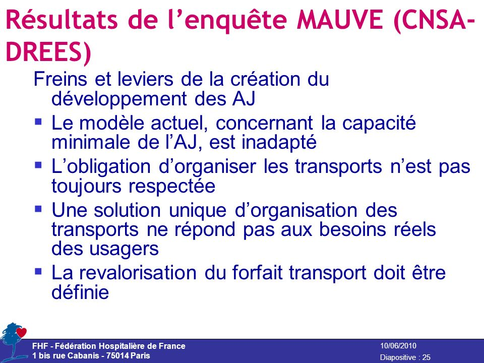 Résultats de l'enquête MAUVE (CNSA-DREES)