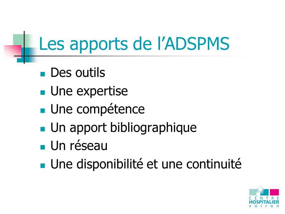 Les apports de l'ADSPMS