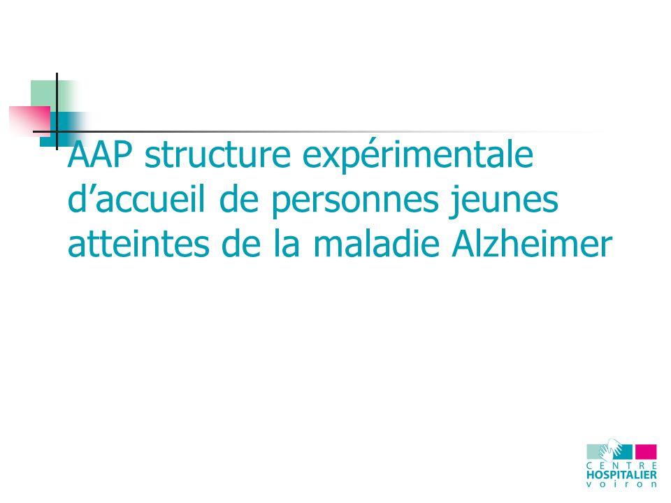 AAP structure expérimentale d'accueil de personnes jeunes atteintes de la maladie Alzheimer