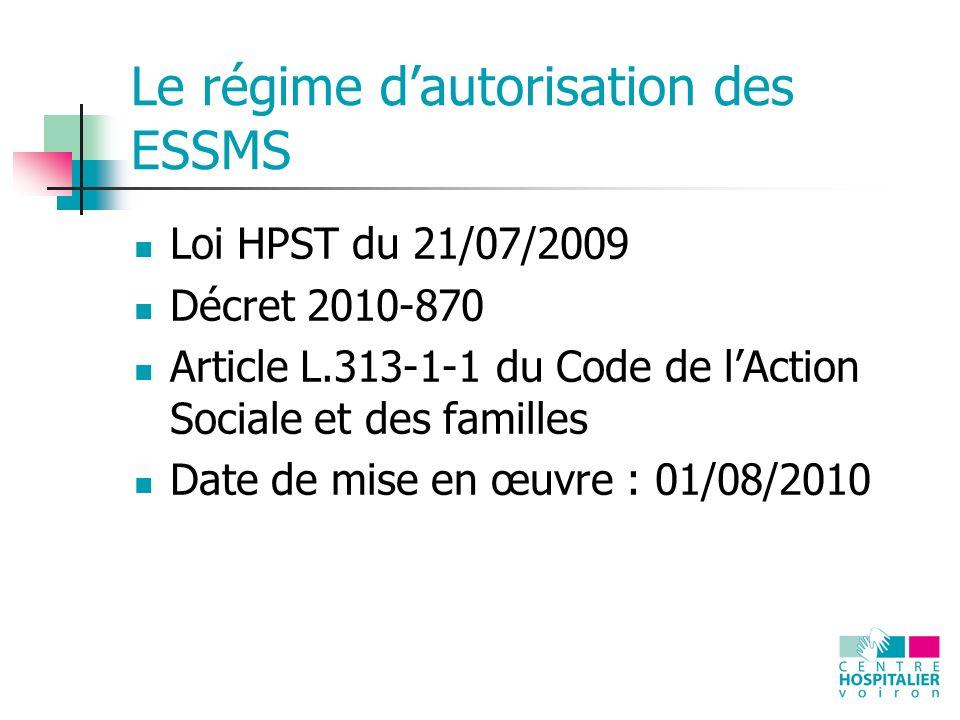 Le régime d'autorisation des ESSMS