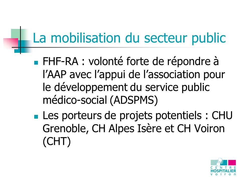 La mobilisation du secteur public