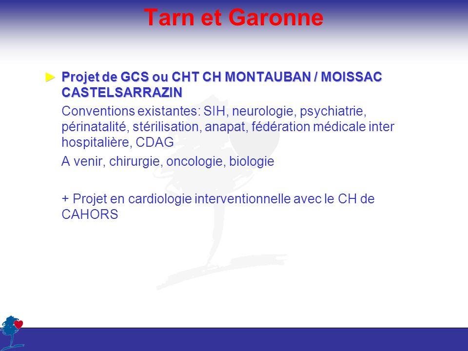 Tarn et Garonne Projet de GCS ou CHT CH MONTAUBAN / MOISSAC CASTELSARRAZIN.