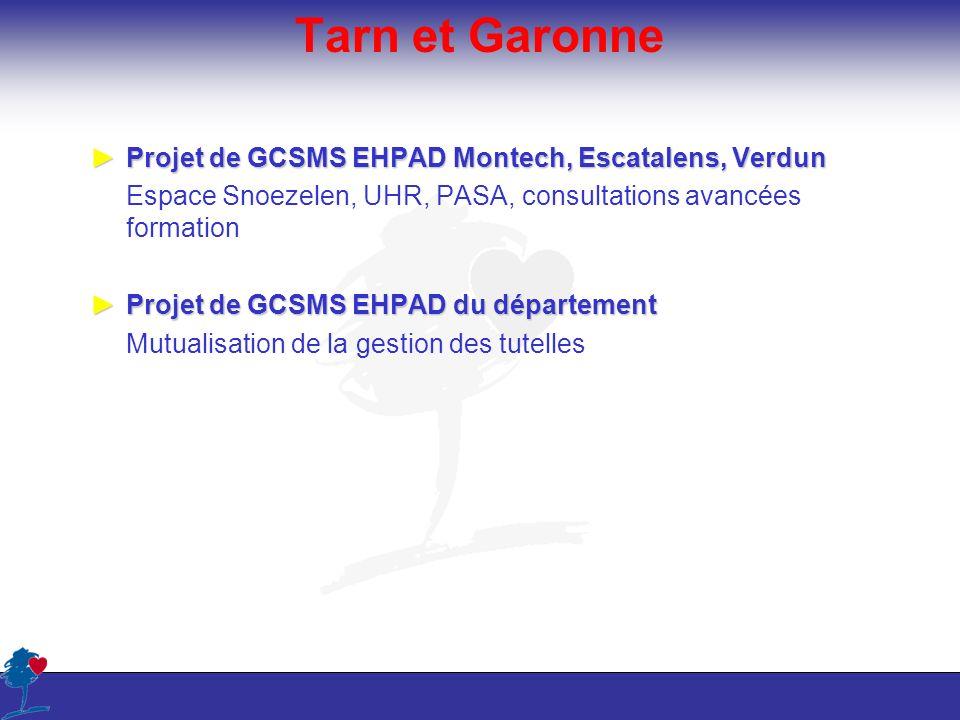 Tarn et Garonne Projet de GCSMS EHPAD Montech, Escatalens, Verdun