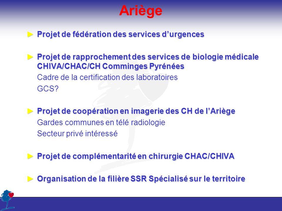 Ariège Projet de fédération des services d'urgences