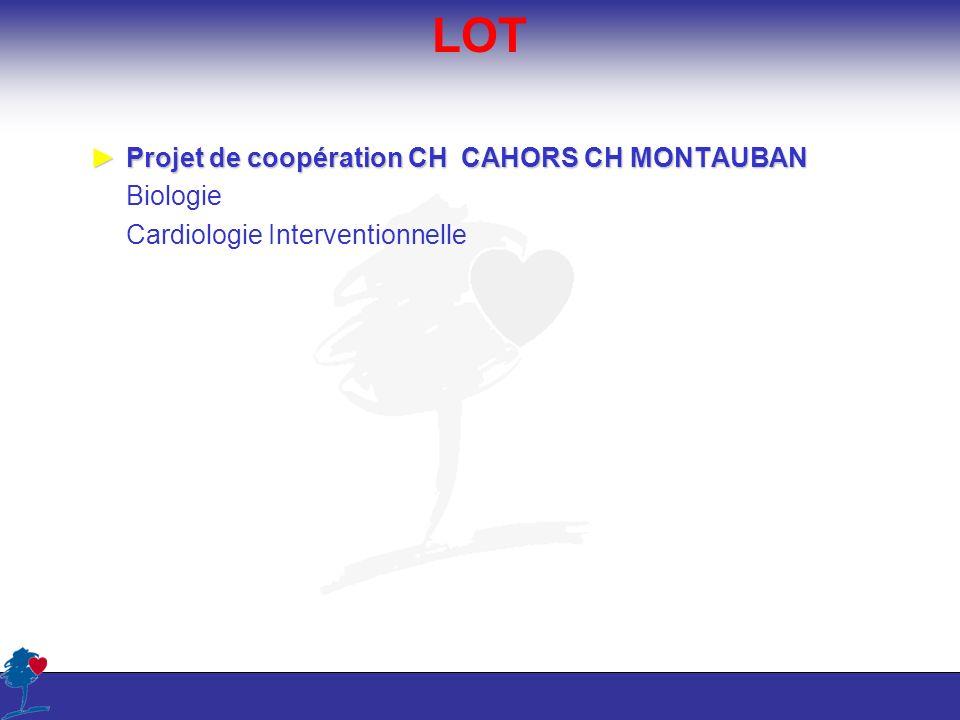LOT Projet de coopération CH CAHORS CH MONTAUBAN Biologie