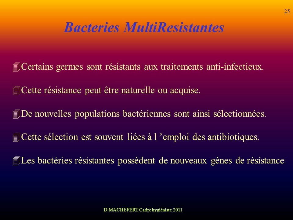 Bacteries MultiResistantes